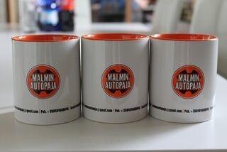 Kahvimukit logolla