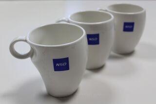 Posliinimuki logolla NSD