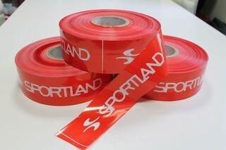 Warning foil with logo Sportland
