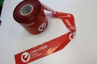 Warning foil with logo ChallengeTurku